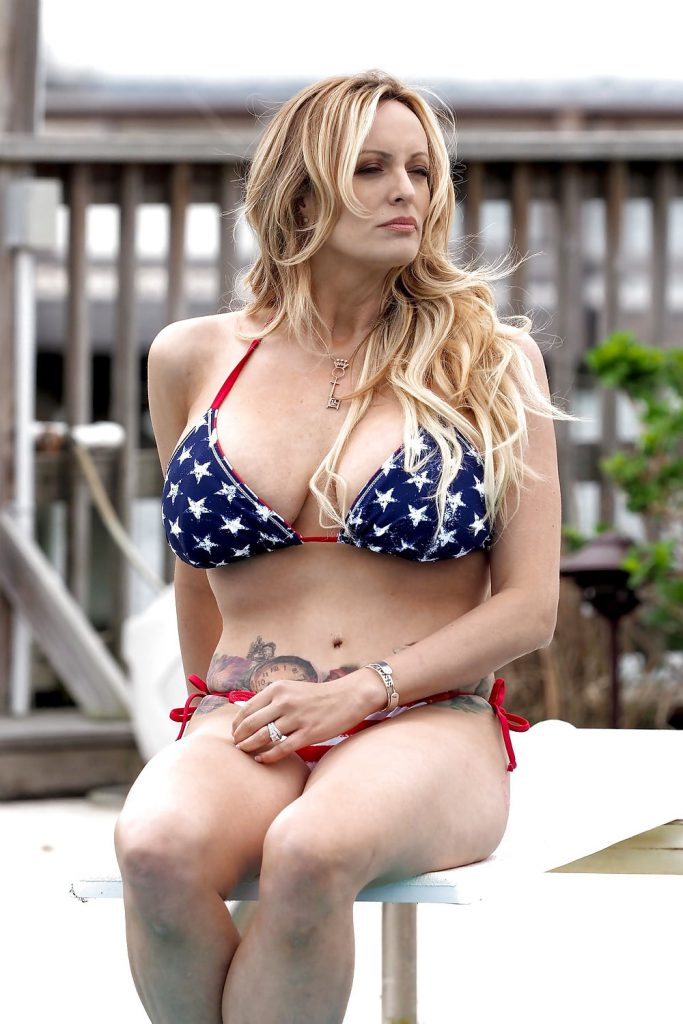 Stormy Daniels in a bikini in Long Beach, NY 5-5-18