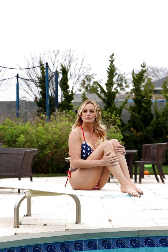 Stormy Daniels in a bikini in Long Beach, NY 5-5-18